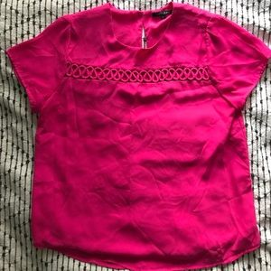Papermoon hot pink blouse with open detai